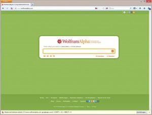 Abb 7_05 Wissenschaftliche Suchmaschine WolframAlpha