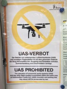 Drohnenverbot auf Burg Hohenzollern (Foto: eigen)
